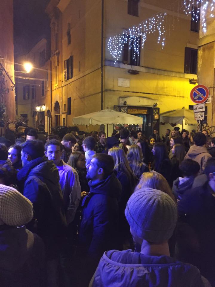 One of the most popular bars in Trestavere.