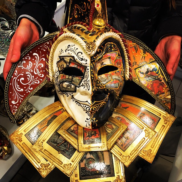 The €180, authentic, Venetian mask.