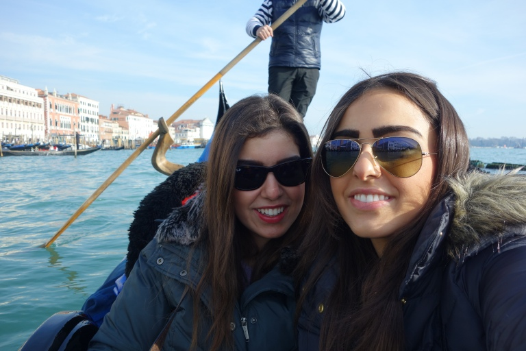 Selfie on the gondola around Venice.