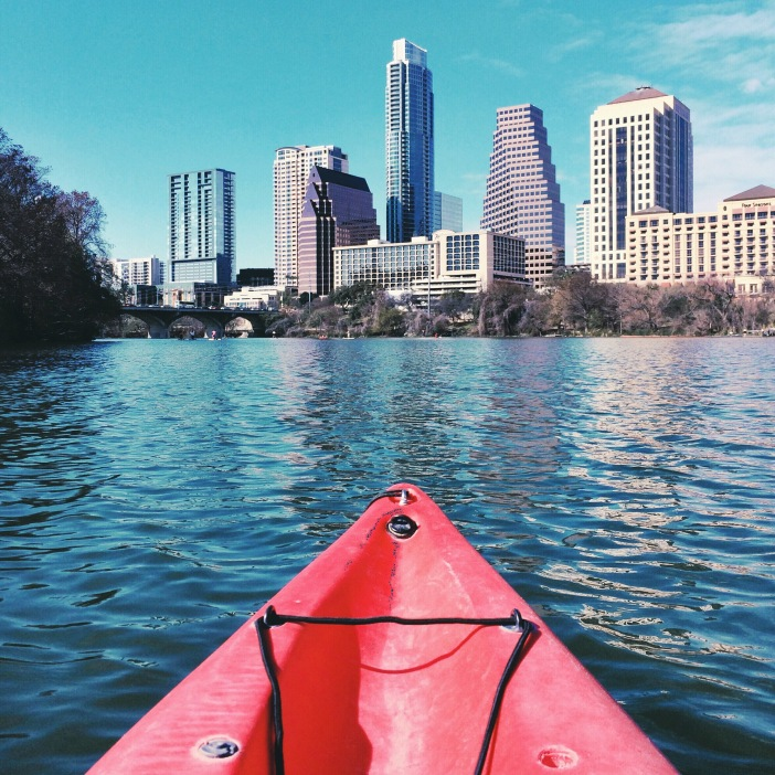 I took this photo while kayaking on Lady Bird Lake earlier this March. Downtown was setting up for SXSW but the lake still offered tranquility and allowed me a place to clear my mind.